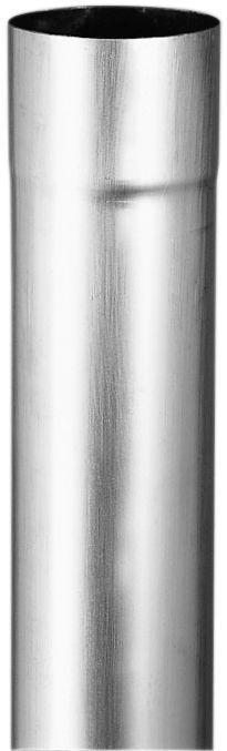 Tuyau cylindrique soudé bord à bord QUARTZ-ZINC filmé diamètre 80mm épaisseur 0,65mm longueur 2m UM 220022641