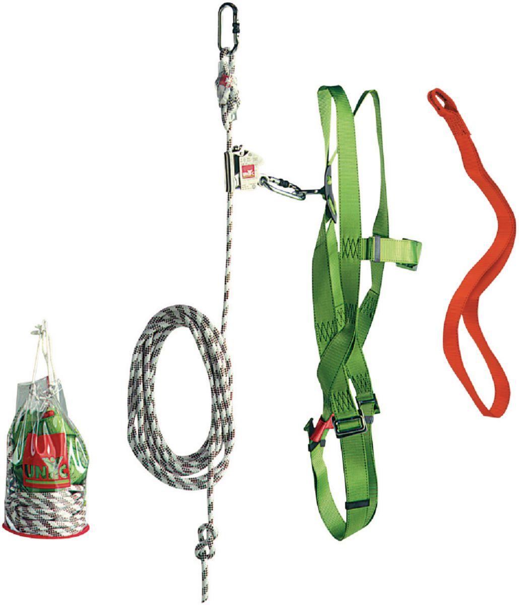 Kit de sécurité façade 1 sangle 1m + 1 harnais + 2 mousquetons + 1corde 10m + 1 antichute + 1 sac QSFEPI01/09