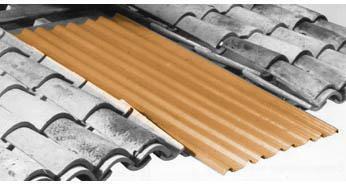 Plaque de sous-toiture ONDULINE FLEXOUTUILE T235 - 2,00 m x 1,010 m -  Ocre