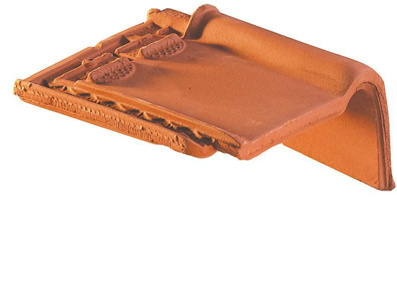 Tuile de rive à rabat droite à emboîtement Monopole N°1 - terre cuite - amarante rustique