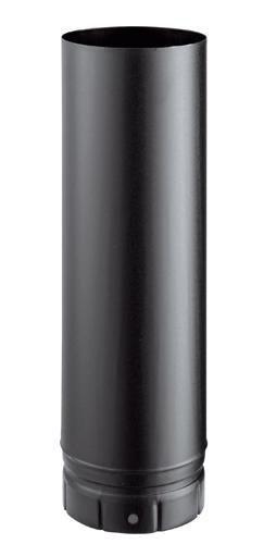Conduit émaillé 7 / 10e soudé en continue, diamètre 180 mm, Lg : 50 cm, noir mat (RAL 9019) LG 500 180 E NM / réf. 58180904