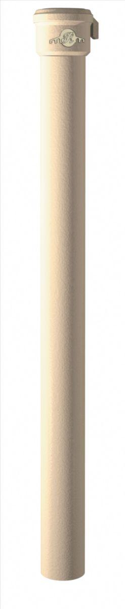 Dauphin rond droit en fonte gamme pavillonnaire - rouge - Ø nominal 80 mm - L. 1 m