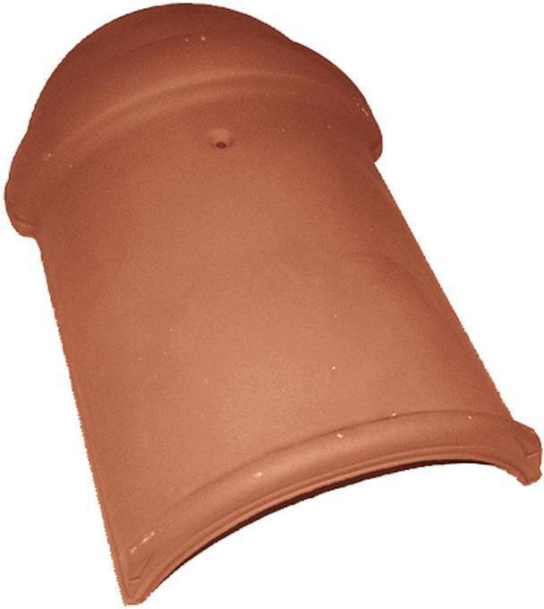 About de faîtière 1/2 ronde à emboîtement 869 - terre cuite - rouge - L. utile 432 mm
