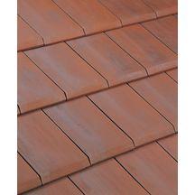 Tuile douille alpha 10 terre cuite rouge nuanc 160 mm imerys toiture couverture for Tuiles plates prix m2