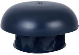 Chapeau ventilation à collerette étanchéité 50x40 mm incorporée gris ardoise CD16M Nicoll diamètre 160 mm