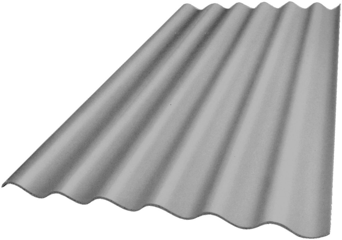 Plaque ondulée Plakfort 5 ondes - fibres ciment - teinte naturelle - 152x92 cm