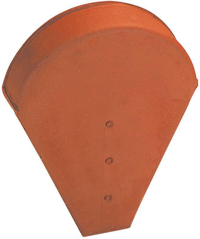Fronton petit modèle pour faîtière demi-ronde ou conique 803 - terre cuite - vieilli masse - 350x270 mm