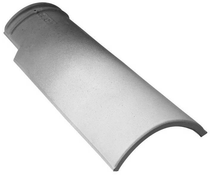 Demi-tuile Galleane 12 GT002 - terre cuite - pierre de soleil - 473x185 mm