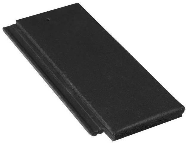 Demi-tuile Innotech NT022 - béton minéral - graphite - 420x185 mm