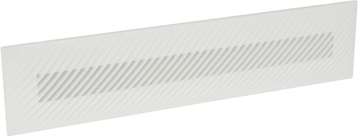 Grille ventilation matériau de synthèse en applique Belriv Système blanc Nicoll - 60 cm²