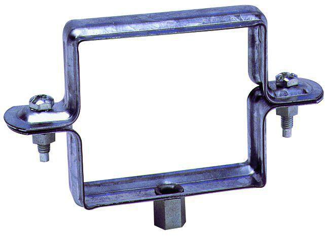 Collier descente carré à embase - 100x100 mm