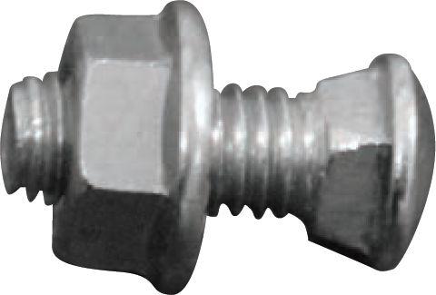 Boulon TRCC acier - Ø6x15 mm boite 50 pcs