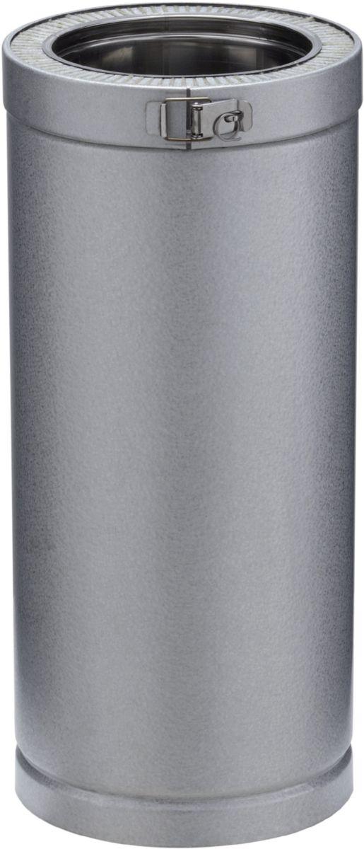 Elément droit THERMINOX ZI, diamètre 150 mm, Lg: 45 cm ED 450 150 ZI / réf. 23150004