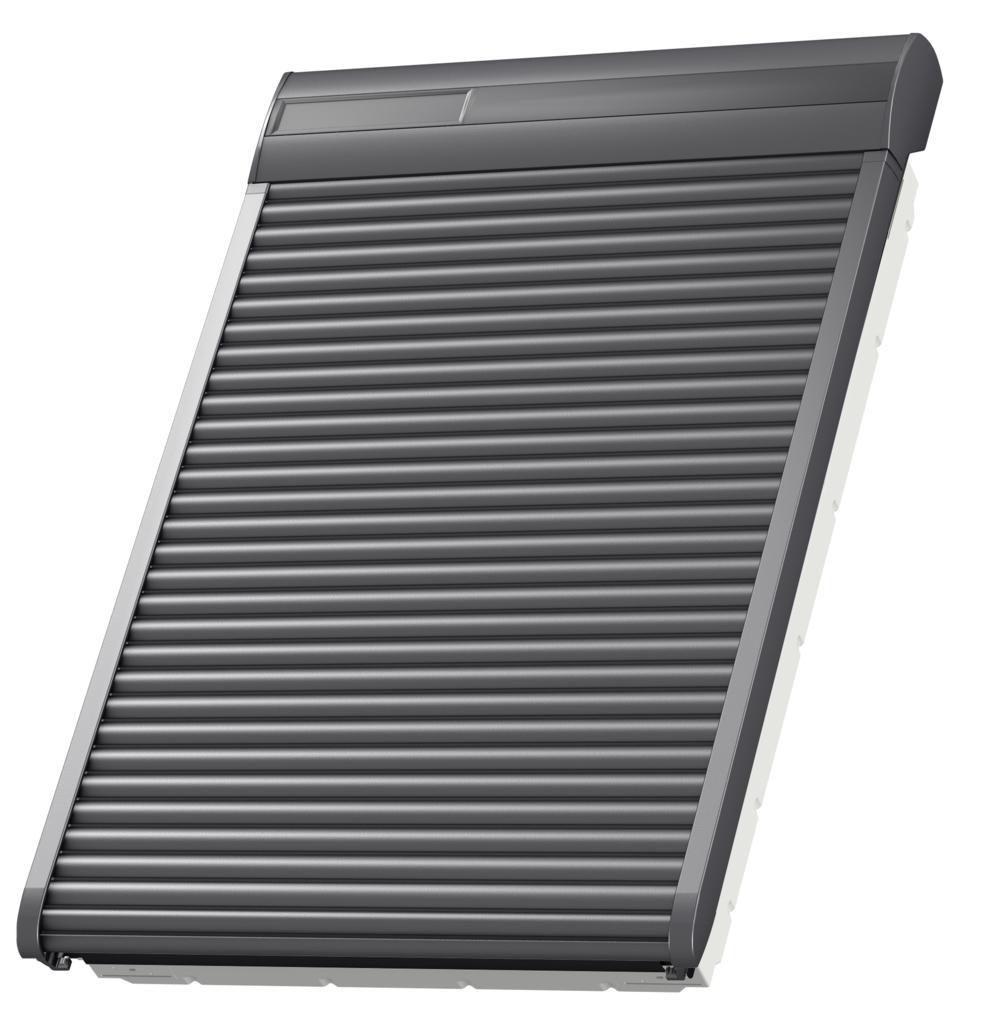Velux Volet Roulant Solaire Ssl Pour Fenetre De Toit Velux Sk06 114x118 Cm Aluminium Gris Anthracite Asturienne