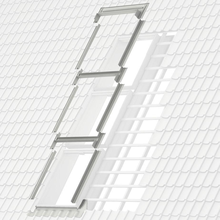Kit de raccord JUMO W pour fenêtres de toit MK04 78x98 cm - rouge-brun
