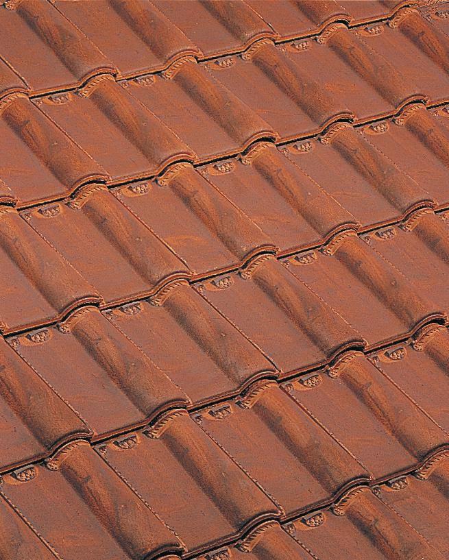 Tuile terre cuite Monopole n°3 Huguenot Amarante rustique Edilians 316x228 mm