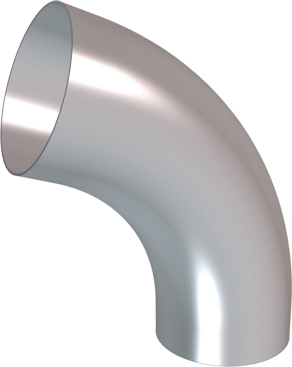 Coude cintré grand rayon zinc D 100 à 85°