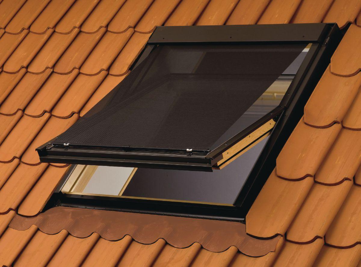 Store pare-soleil manuel MHL pour fenêtre de toit SK00 - L. 118-140 - l. 114 cm - gris anthracite