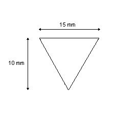 Baguette triangulaire 40% étain 60% plomb longueur 43 cm