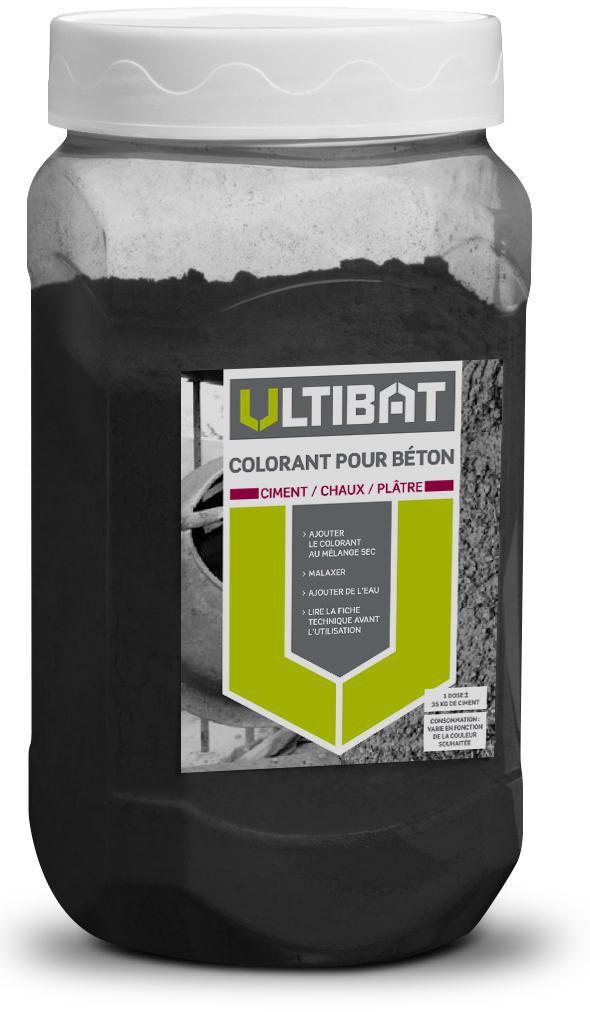 Colorant pour béton, ciment, chaux et plâtre - noir - pot de 750 g