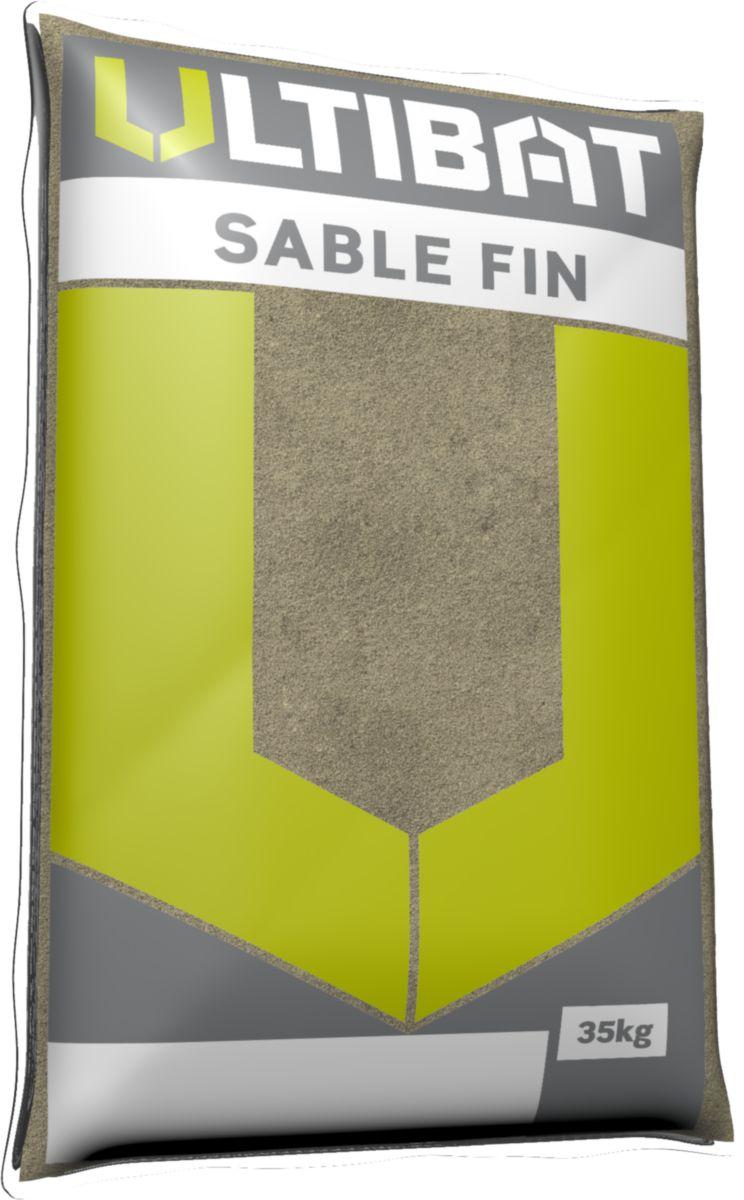 Sable fin vert à maconner 0/1 ULTIBAT sac de 35kg