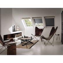 volet roulant solaire ssl pour fen tre de toit sk06 114x118 cm aluminium gris anthracite. Black Bedroom Furniture Sets. Home Design Ideas