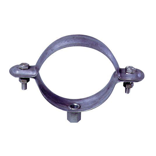 Collier de descente rond à embase 7/150 inox - Ø 100 mm - 25pcs