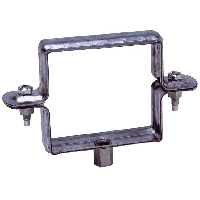 Collier descente carré à embase quartz - 80x80 mm