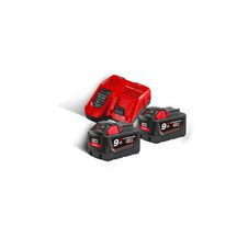 Ensemble chargeur + batteries Red Li-ion M18 NRG-902 - 18 V