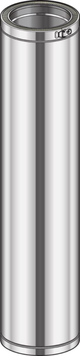 Elément droit THERMINOX TI, diamètre 180 mm, Lg: 120 cm ED 1200 180 TI / réf. 21180017