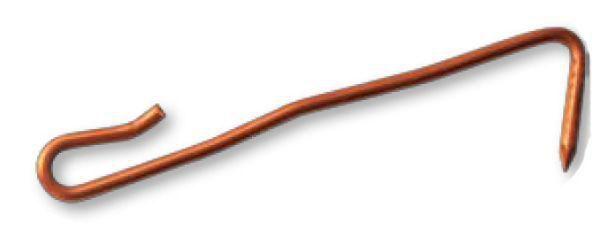 Crochet ardoise cuivre pointe fil diamètre 2,7mm longueur 16cm crosinus boîte de 5kg réf. QAFAP166U/KC