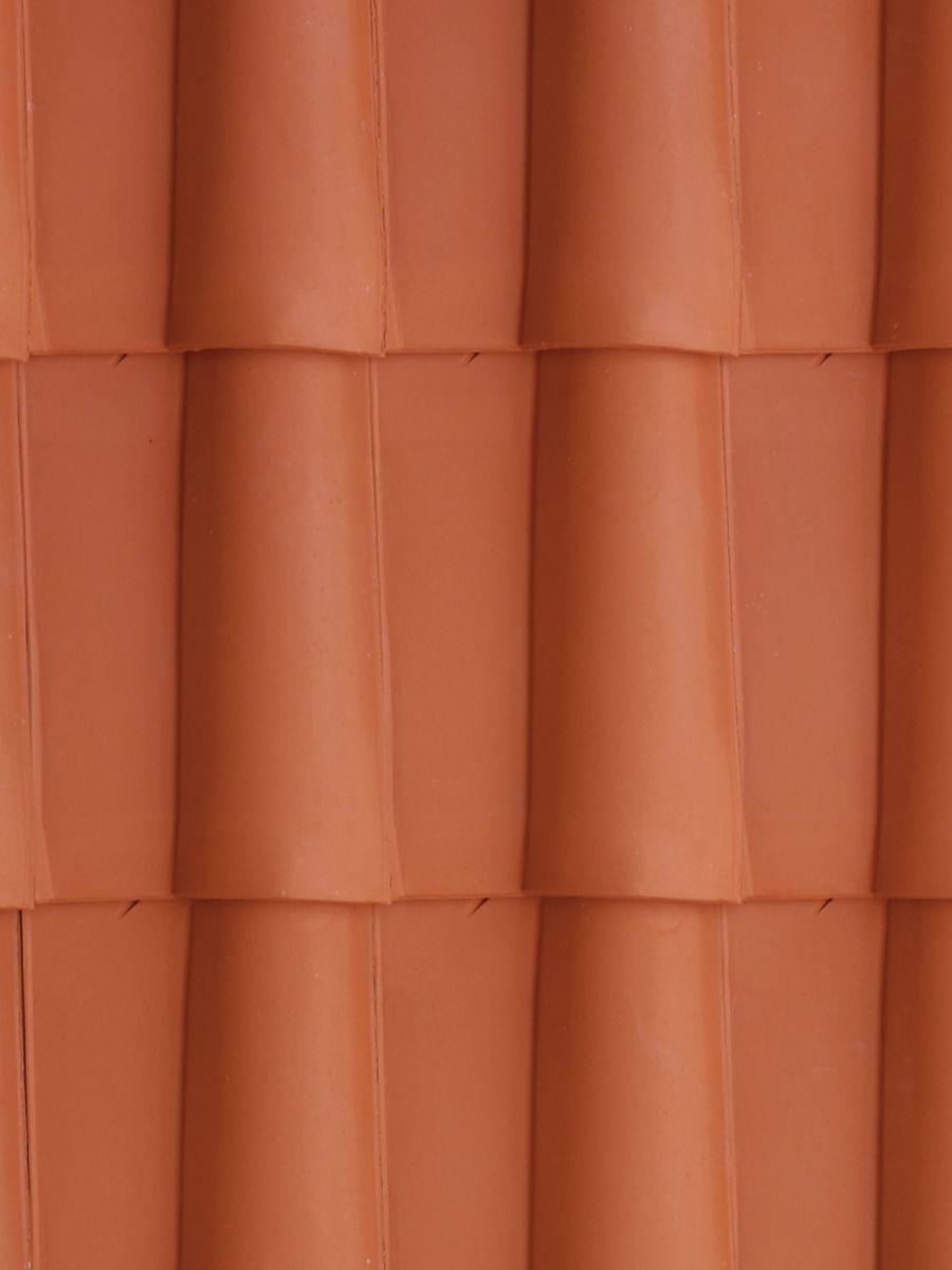 Tuile double bourrelet Romane - terre cuite - rouge naturel - 463x331 mm