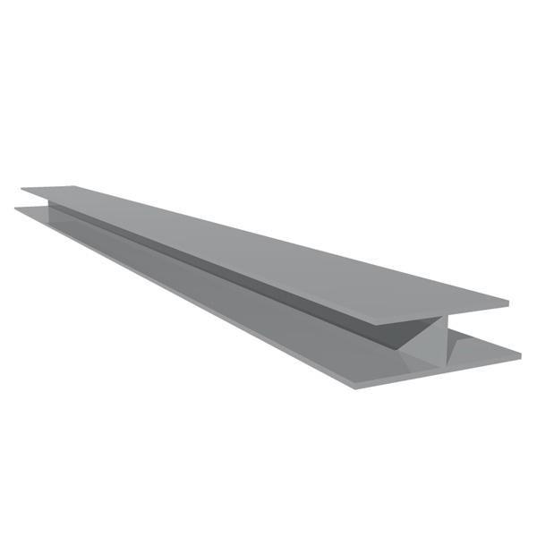 Profilé de raccord PVC gris longueur 5m