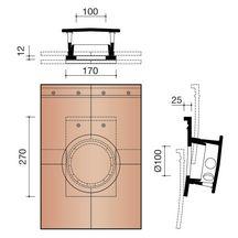 kit tuile douille 100mm connexion et mitron extraction. Black Bedroom Furniture Sets. Home Design Ideas