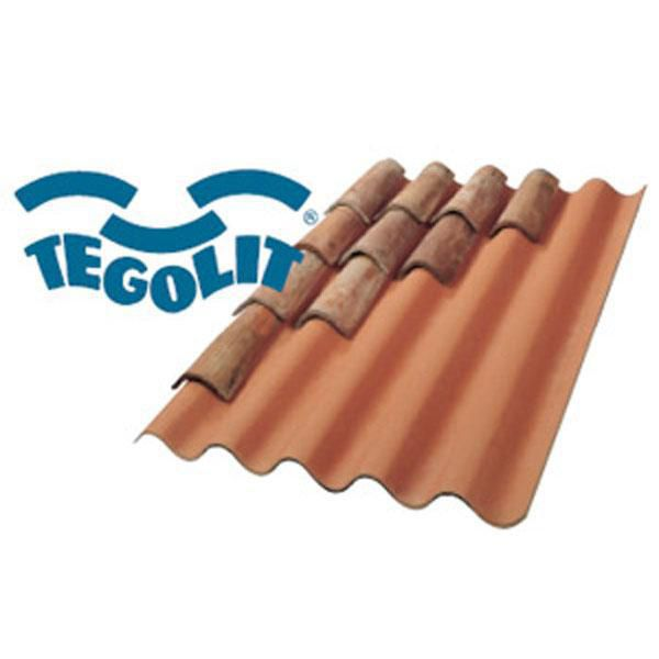 Plaque support de tuiles Tegolit Plus 235 1,65x0,98m teinte flammée
