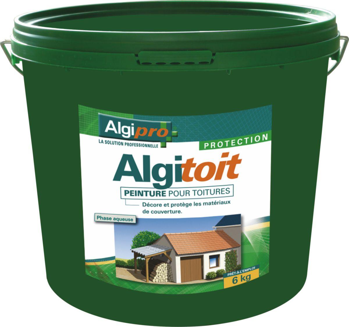 ALGIMOUSS - Peinture toiture Algitoit noir ardoise seau de 6kg   Asturienne