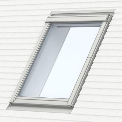 Raccord EDP pour fenêtre de toit MK08 78x140 cm - pose traditionnelle sur petites tuiles plates - gris anthracite