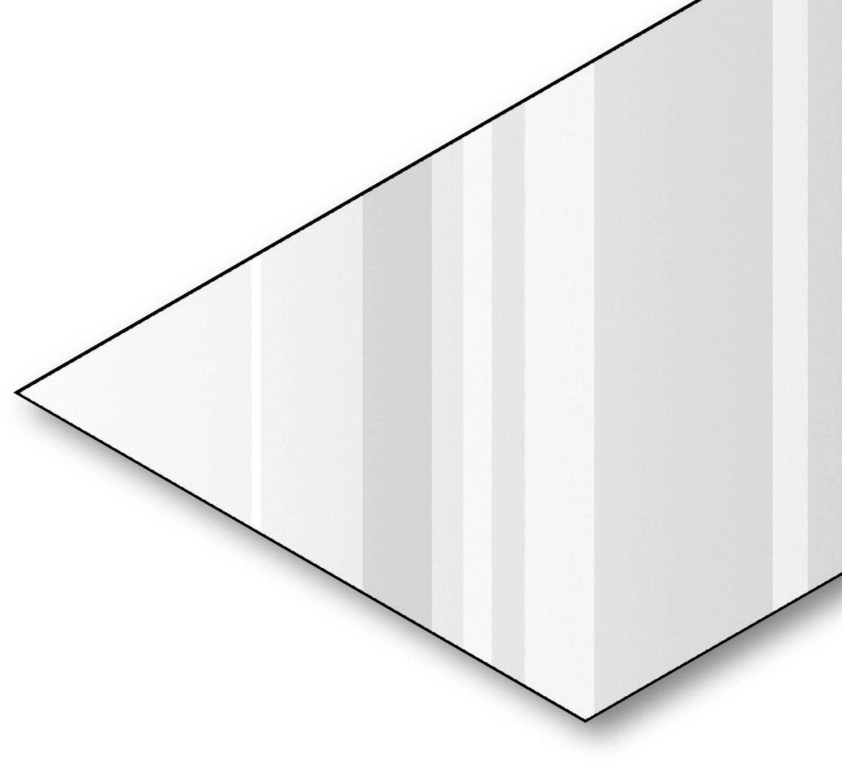 Tôle plane laquée épaisseur 0,50mm RAL 9005 noir 2x1,00m