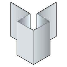 Profil coin ext rieur en aluminium pour bardage c dral lap c01 blanc everest - Bardage aluminium prix ...