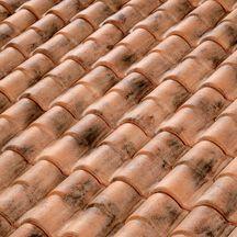 Fronton de rive verticale terre cuite terreal 35 xt pour tuile romane canal vieilli occitan for Tuile romane terreal