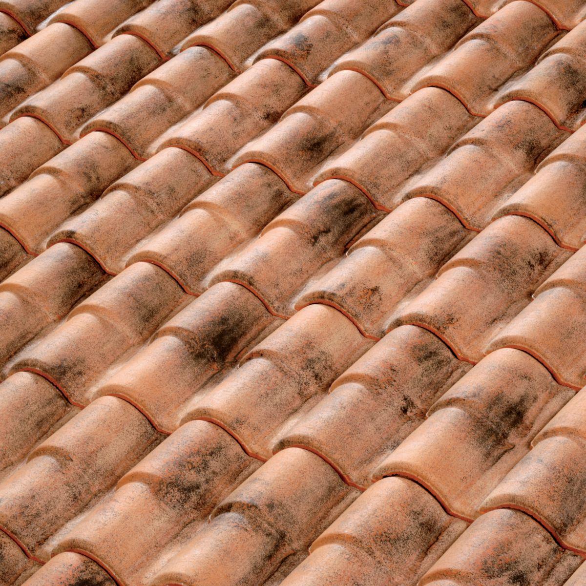 Tuile chatière terre cuite Terreal 61 RC pour tuile Romane Canal vieilli Occitan
