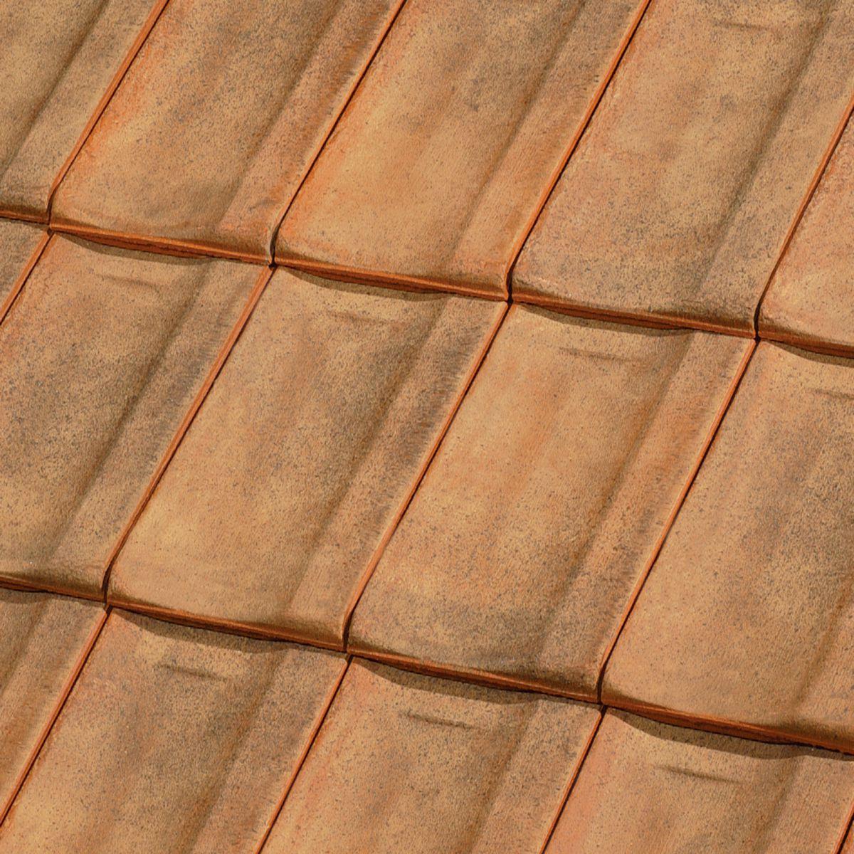 Tuile chatière + grille 613 XLP - terre cuite sablé Champagne - section ventilation 35 cm²