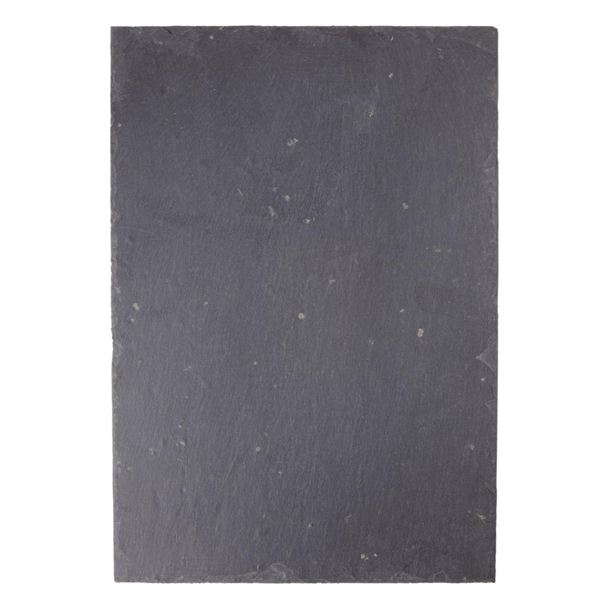 Ardoise naturelle d'Espagne Cufica 1AS gris foncé - 32x22cm ép. forte