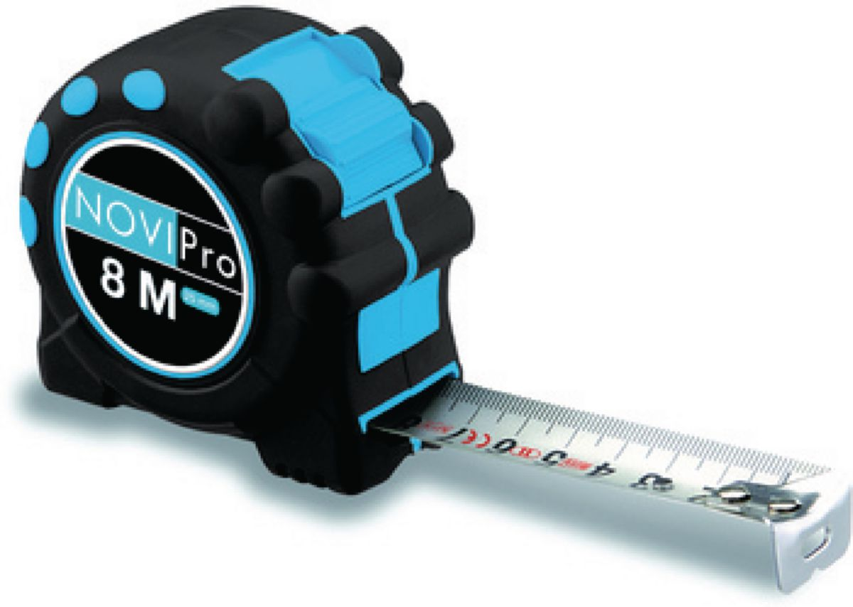Mesure roulante inox embout 8MX25MM magnétique 8mx25mm NOVIPro