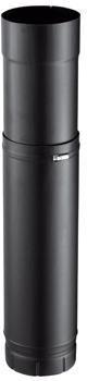 Elément droit réglable émaillé 7 / 10e soudé en continue, diamètre 150 mm,51 - 86 cm, noir mat (RAL 9019) ZOOM 150 E NM / réf. 56150930