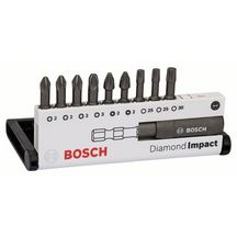 Assortiment (mixte) de 10 embouts de vissage Diamond Impact Diamond Impact, set de 10 pièces, 25mm, PH/PZ/T Réf. 2608522064