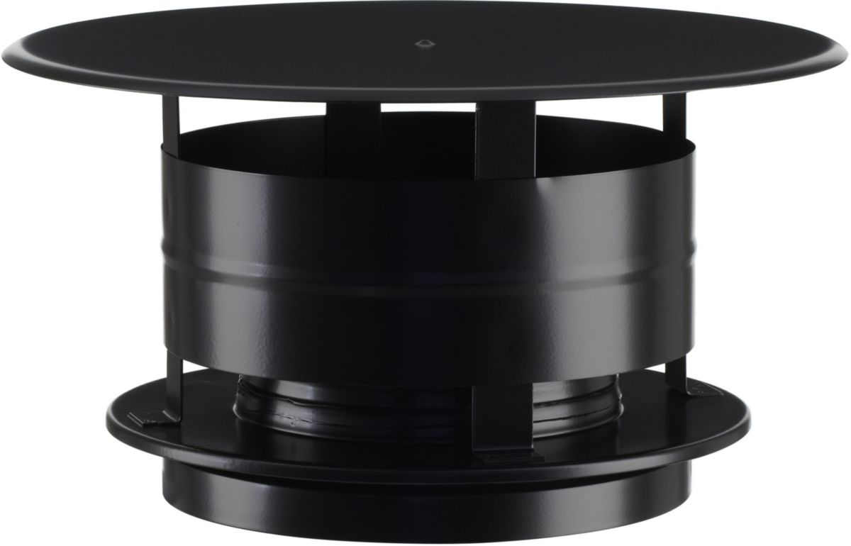 Chapeau aspirateur Therminox TI - Ø 150 mm - noir mat