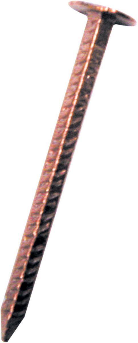 Pointe tête extra large carrée crantée cuivre Tetra 30x3,0mm boîte de 5kg réf. 773203