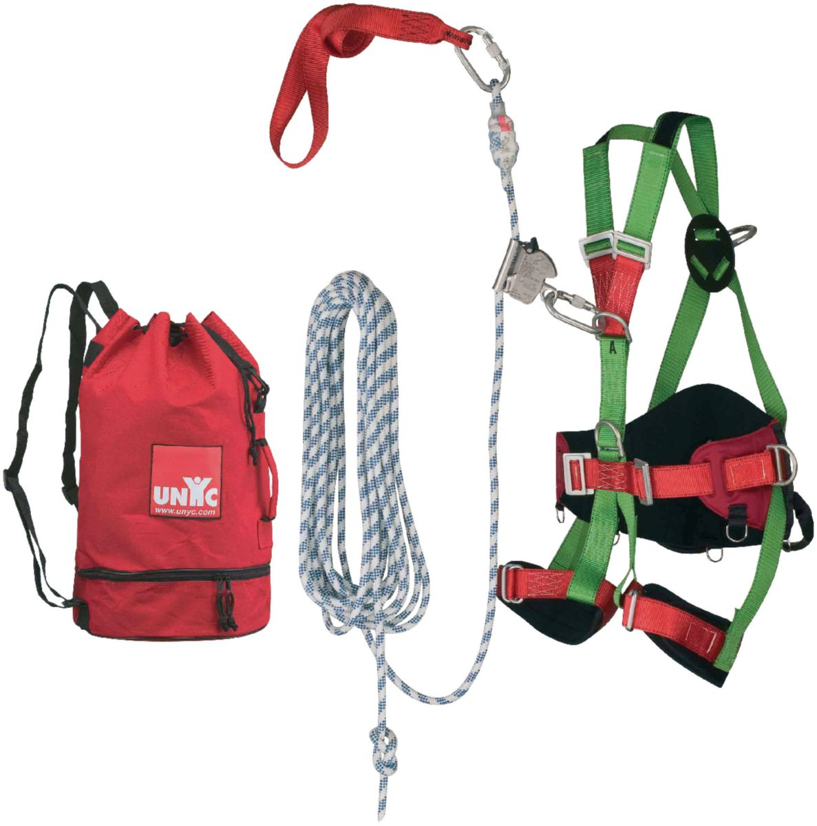 Kit confort couverture 1 harnais + 1 sangle + 1 corde + 1 antichute à corde + 2 mousquetons + 1 sac QSFEPI01/02