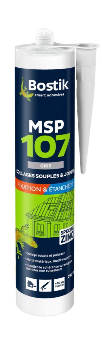 Mastic polymère MSP 107 gris cartouche de 290ml